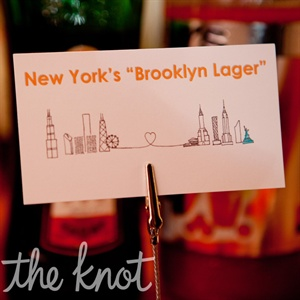 As a nod to their New York roots, the couple served Brooklyn Lager (in addition to 312 Urban Wheat Ale from Chicago).