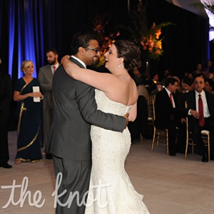 """Maybe I'm Amazed"" by Paul McCartney is the song that ""without fail"" makes Vamsi think of Meagan, she says, so it was ideal for their first dance."
