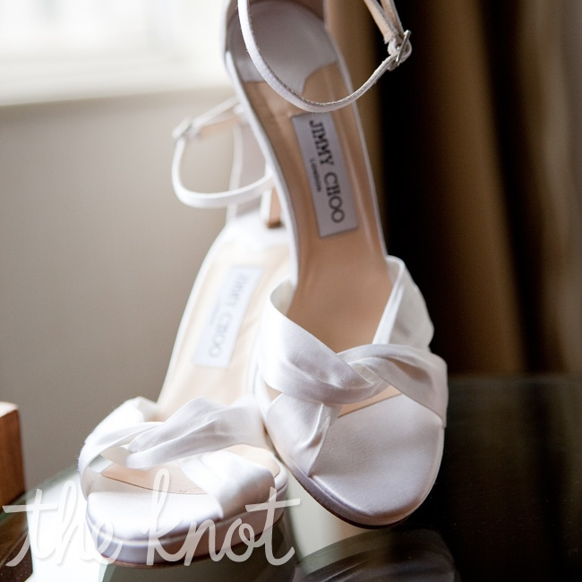 Sarah wanted to wear pure-white shoes that were comfortable enough to dance in all night.