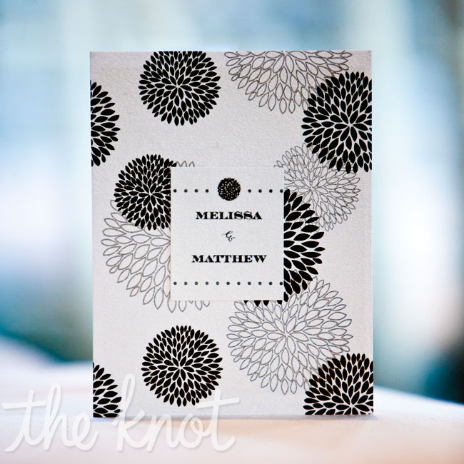 A graphic black-and-white burst pattern decorated the program covers.
