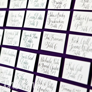 Each card was handwritten by the couple's calligrapher and displayed at the entrance.