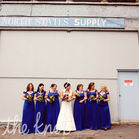 Cobalt-blue Bridesmaid Dresses