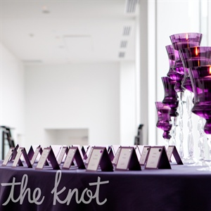 Purple Escort Card Table Display