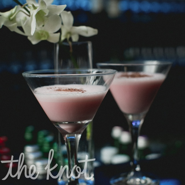 Sarah and Matt's signature drink was based on their favorite drink, White Russian, with a splash of Grenadine to give it a pink tint.