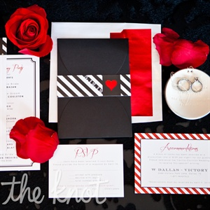 Black and Red Wedding Stationery