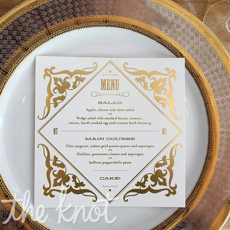Gold Menu Cards