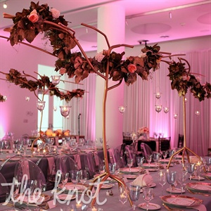 Tall Garland Centerpieces