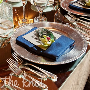 Peacock Feather Place Settings