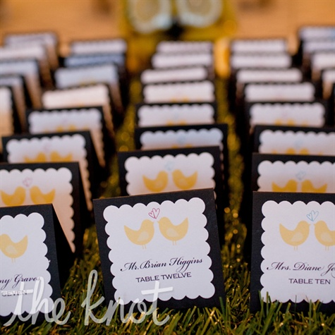 Love Bird Escort Cards