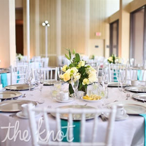 White and Ivory Centerpieces
