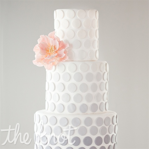 Ombre Gray Polka Dot Cake