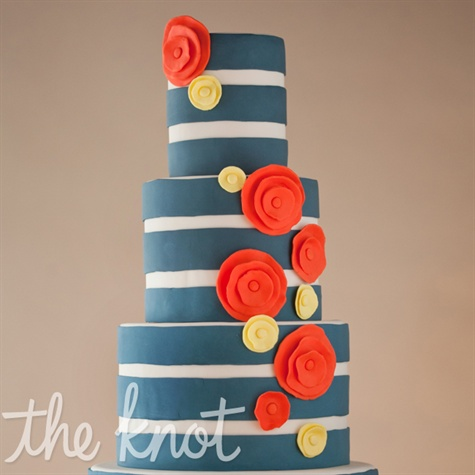 Whimsical Striped Cake