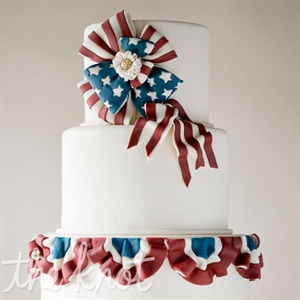 Independence Day Themed Wedding Cake