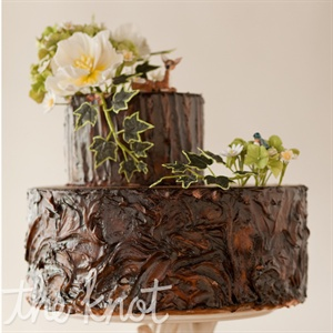 Tree Bark Textured Cake