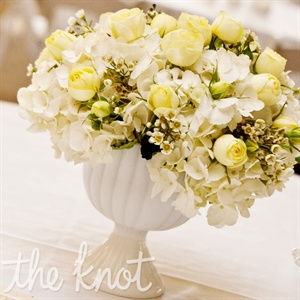 Elegant Yellow and White Centerpiece