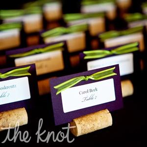 Winery Wedding Escort Cards