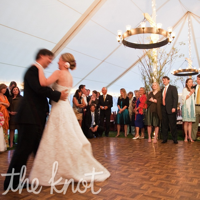 "The couple chose Elvis Presley's ""Can't Help Falling in Love,"" as their first dance song."
