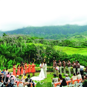 Outdoor Ceremony at Luana Hills