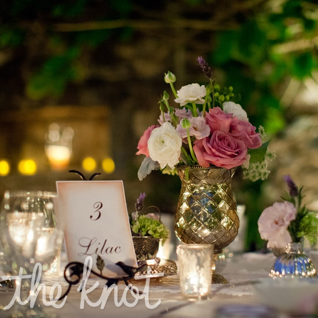 The tables were all named after English flowers that are Natalie's family's favorites.