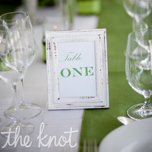 Vintage Table Numbers Frame