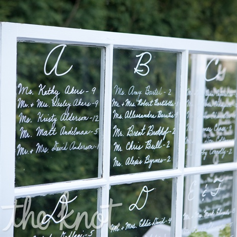 Window Pane Seating Chart