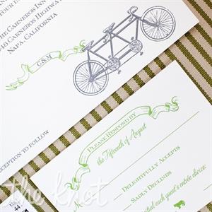 Bicycle Wedding Invitations