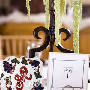 Megan and Anthony were inspired by Spanish architecture and the romance of the venue so they incorporated ivory lace, wrought iron, handmade saltillo tiles, bright shades of purples and fuchsia, greenery and succulents.