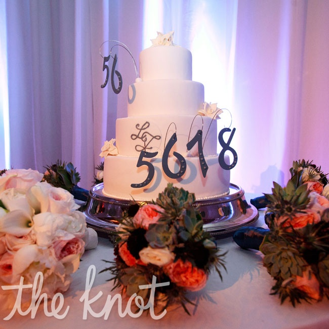 "The bride surprised the groom with a cake that captured his trademark countdown when he's on the dance floor: ""5-6…5-6-7-8!"""