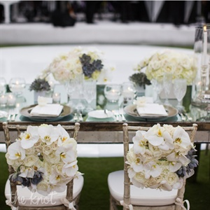 All White Chair Flowers