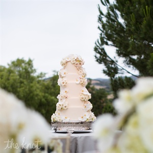 Five Tier Cake With Cascading Flowers