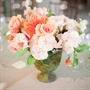 Coral and Light Pink Centerpieces