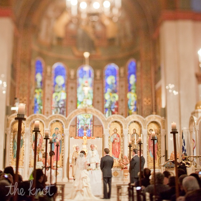 From the New York location (where the bride's family is originally from) and the Greek traditions to the vignettes of the couple replicating the bride's parents' wedding photos, the day was as much about family as it was about Ellie and Josh