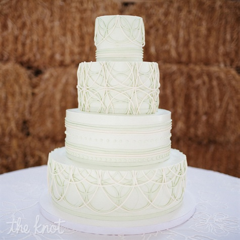 Four Layer Modern Wedding Cake