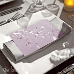 Sleek Place Setting with Birch Design