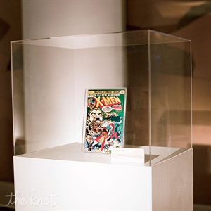 Wong created a mock exhibit, where one of Davids vintage X-Men comic books was showcased like a treasured artifact inside a custom display