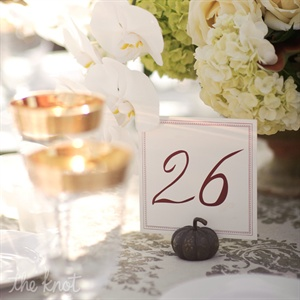 Fall-Themed Table Numbers