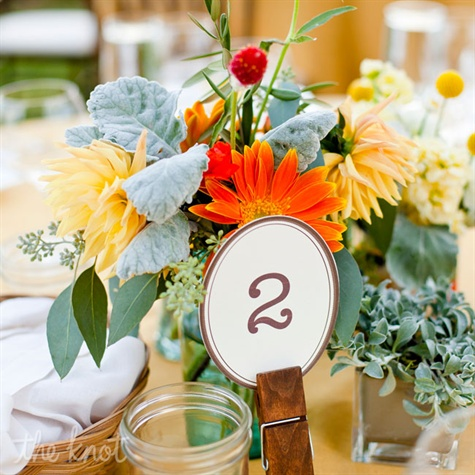 Mason Jar and Wildflower Centerpiece