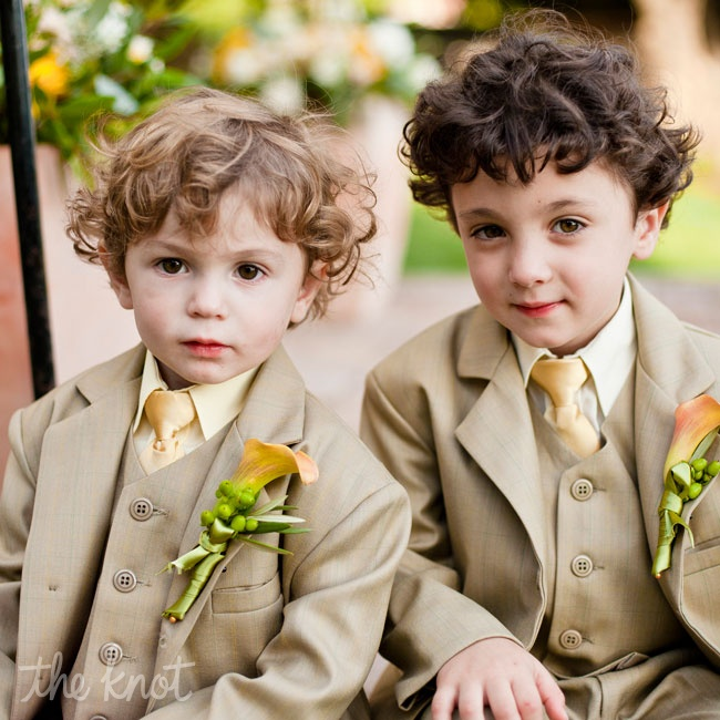 Rachel's 4-year-old nephew Noam served as the ring bearer. He wore a suit similar to the groomsmen and carried the rings down the aisle inside of mammoth sunflower.