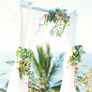 Orange and Green Ceremony  Arch