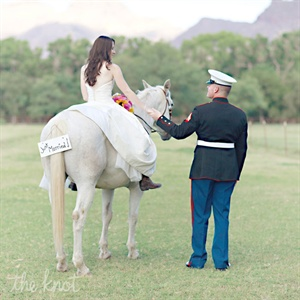 Gracie and Jim decided to have a day-after wedding photo shoot were they were able to take photos at a ranch with horses, which was Gracie's ultimate dream come true since she has been riding horses since she was five years old.
