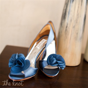 Blue Bridal Pumps