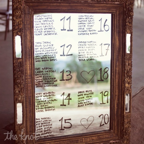 Mirror Seating Charts