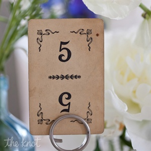 Playing Card Table Numbers