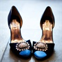 Navy Bridal Pumps
