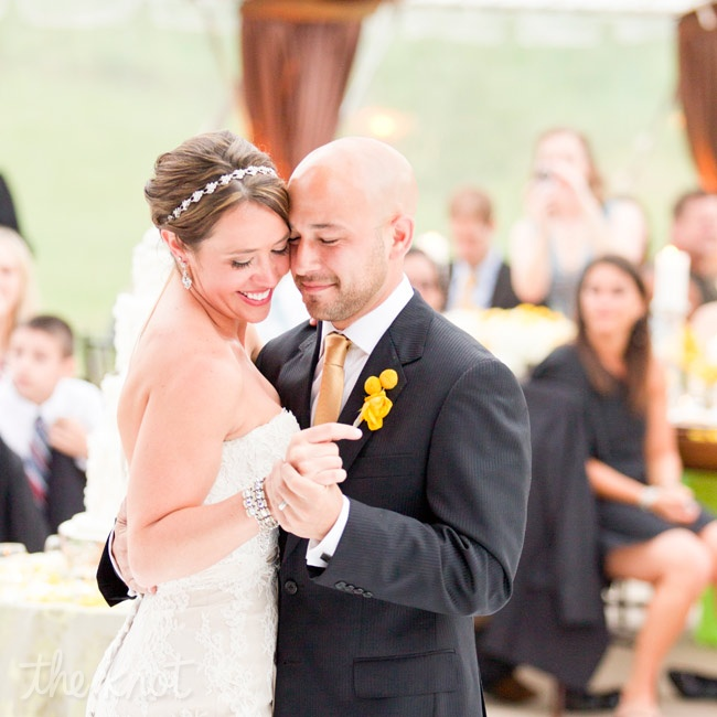 "The couple danced to ""Livin' Our Love Song"" by Jason Michael Carroll."