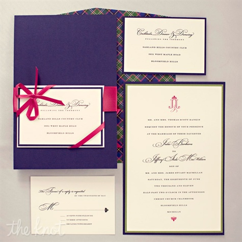 Plaid-lined Invitation Suite
