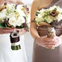 White and Brown Bouquets