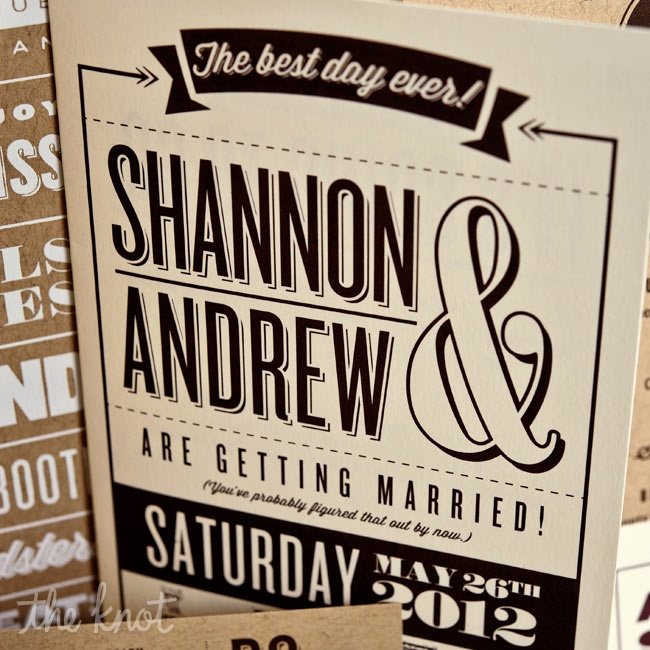 White and brown screen-printed ink looked modern on ivory and kraft paper.