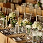 Brown and White Reception Decor