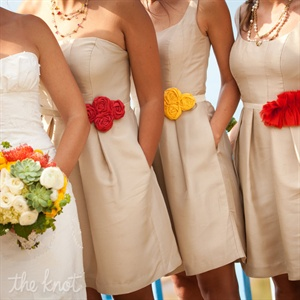 Colorful Bridesmaid Belts